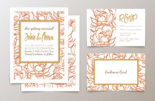 Stel bruiloften uitnodiging vector