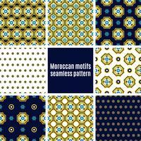 Portugese reeks Azulejos patronen vector