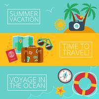 Concepten en banners van reizen, zomer vector