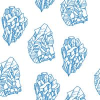 Naadloos patroon met kristallen vector