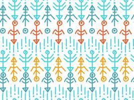 Etnische naadloze patroon. Azteekse achtergrond.