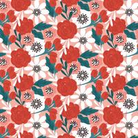 Vector naadloze florale achtergrond