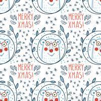 Kerst patroon met ijsberen.