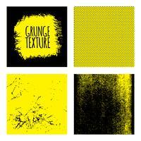 Grunge texturen achtergrond instellen vector