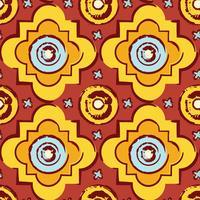 Naadloze byzantijnse stijlachtergrond vector
