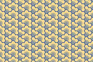 Japanse ornamentensakura bloeit naadloos patroon