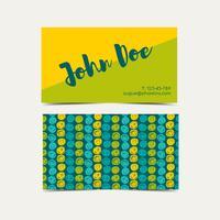 De achtergrond van het visitekaartje. Groene flitskleur.