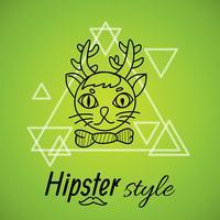 Hipster karakter ontwerp vector
