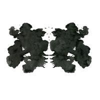 Rorschach inkblot test willekeurige abstracte achtergrond