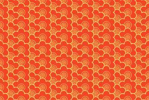 Het Japanse ornament met sakura bloeit naadloos patroon vector