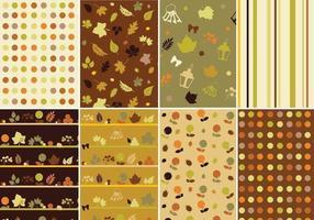 Warme herfst Vector patroon Pack