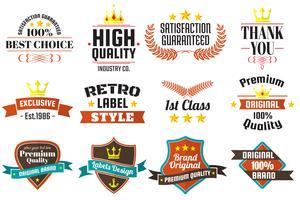 Vintage Retro Vector Labels voor banner
