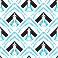 Hand getrokken geschilderd naadloos patroon. vector
