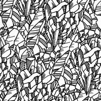 Naadloos zwart-wit patroon met kristallen vector