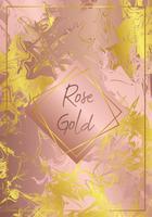 marmeren rose goud vector ontwerp