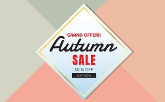 herfst verkoop sjabloon banner Vector achtergrond