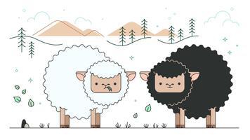 zwarte schapen vector