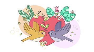 liefde behang vector
