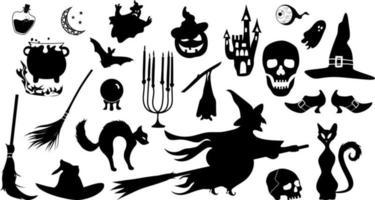 halloween heks bundel - heks magische bundel vector