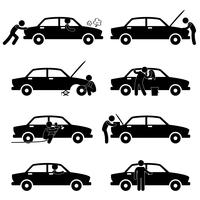 Bevestiging Controle Wassen Repareren Schilderij Autoband Vervangen.
