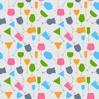 naadloze achtergrondpatroon van retro alcoholische glas. vector