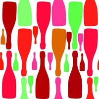 vector achtergrond met flessen. goed voor restaurant- of barmenu