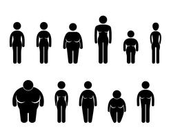 Vrouw lichaam figuur grootte pictogram symbool teken Pictogram. vector