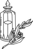 vector glazen fles of potten met label met toverdrank. schattige hekserij-elementen. Halloween-pictogrammen. herfst alle heiligen vooravond illustratie met heks objecten.