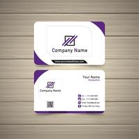 violet visitekaartje vector