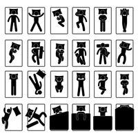 Slaap Slaap Positie Stijl Houding Methode Bed. vector