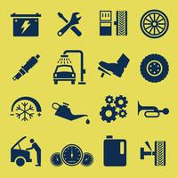Auto Car Repair Service Pictogram Symbool. vector