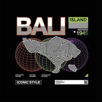 Bali eiland streetstyle vintage mode vector