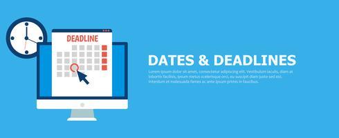 Datums en deadlines banner vector