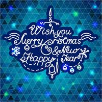 Gelukkig nieuwjaar en vrolijk kerstfeest vector