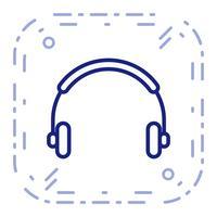 Vector hoofdtelefoon pictogram