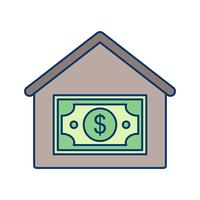 Huis prijs Vector pictogram