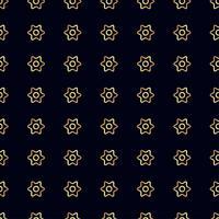 Gouden bloem naadloos patroon.