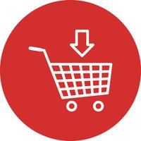 Vector toevoegen aan winkelwagen pictogram