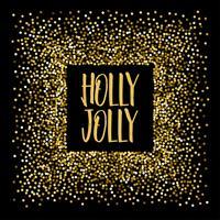 Kerstbanner Holly vrolijk. vector