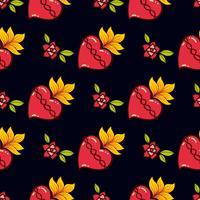 Sacred Heart print oude schoolstijl.