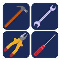 iconen set van ambacht, gereedschappen vector