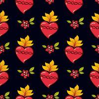 Sacred Heart print oude schoolstijl. vector