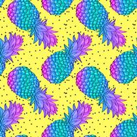 Ananas creatief trendy naadloos patroon