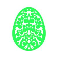 Gelukkig Pasen lasersnijden sjabloon voor wenskaarten