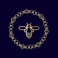 insect Badge Bee voor huisstijl vector