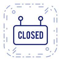 Vector gesloten teken pictogram