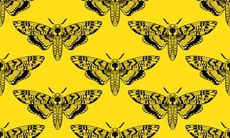 Butterfly Deaths head hawk moth naadloos patroon