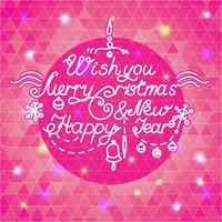 Gelukkig nieuwjaar en vrolijk kerstfeest