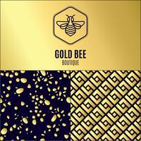 insect. Badge Bee voor bedrijfsidentiteit vector