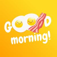 """""""Goedemorgen"""" Klassiek smakelijk ontbijt met eieren en spek"""